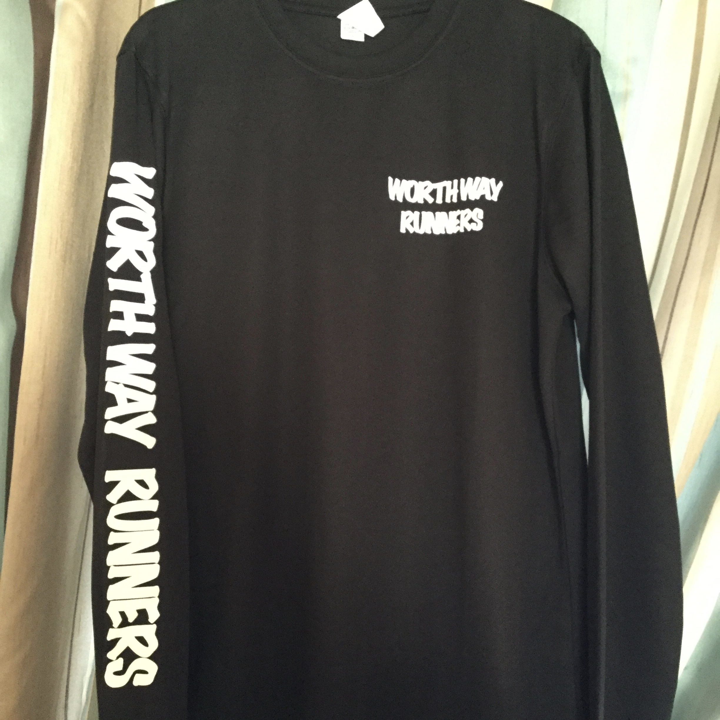 Worth Way Runners - Unisex Black Long Sleeve Shirt