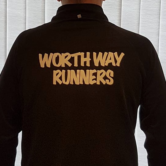 Worth Way Runners - Ladies Black Zipped Long Sleeve Top.